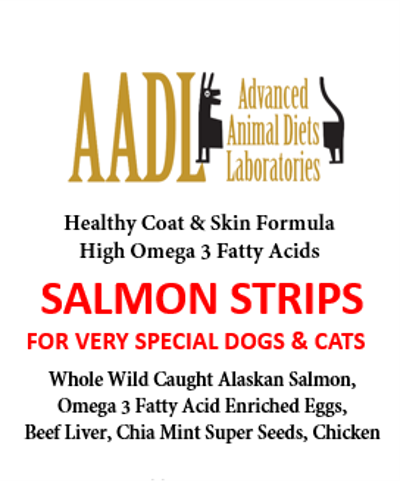 Salmon Strips For Small Dogs & Cats
