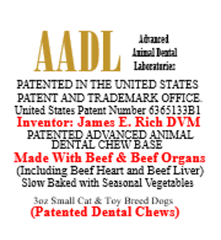 Patented Beefy Dental Chews for Small Cats & Toy Breed Dogs