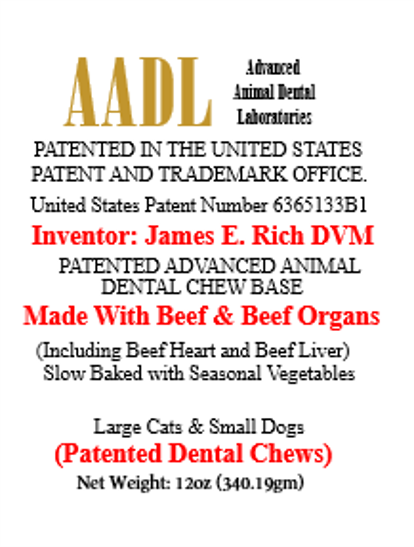 Patented Beefy Dental Chews for Large Cats & Small Dogs