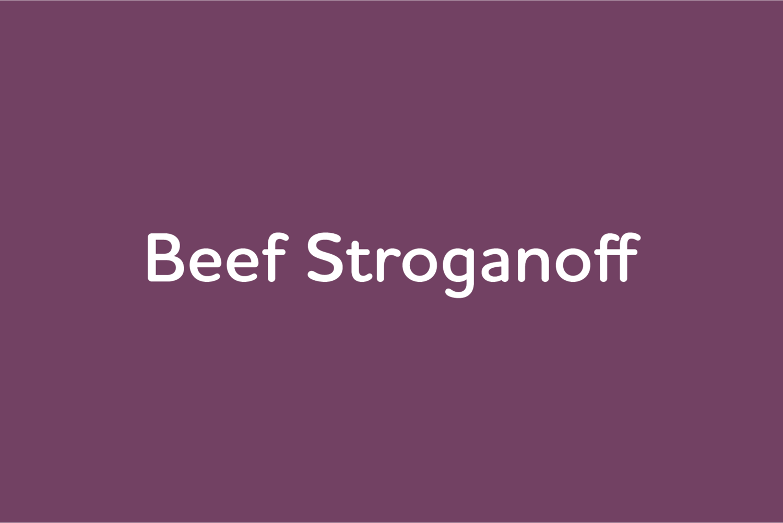 April 15: Beef Stroganoff