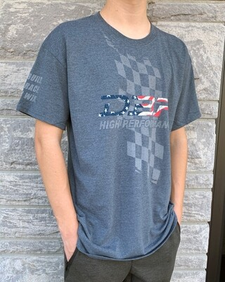 DBR - USA Flag Shirt - Dark Heather Gray