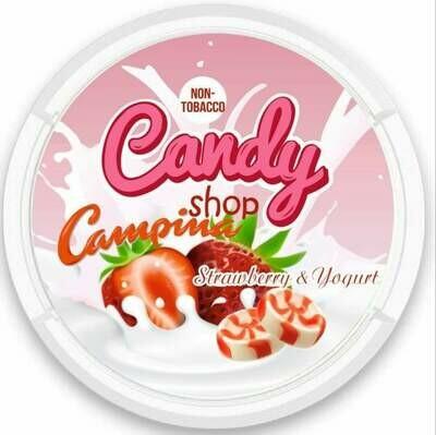 CANDY SHOP   CAMPINO STRAWBERRY & YOGURT