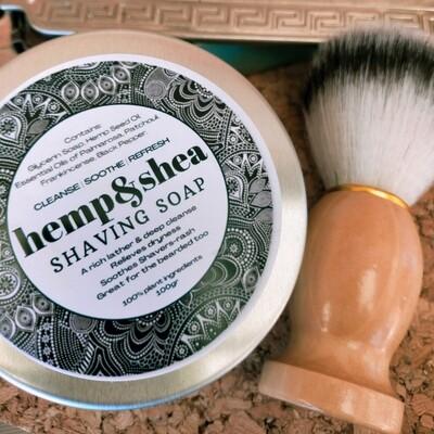 Hemp&Shea Shaving Soap - 100gr - with brush