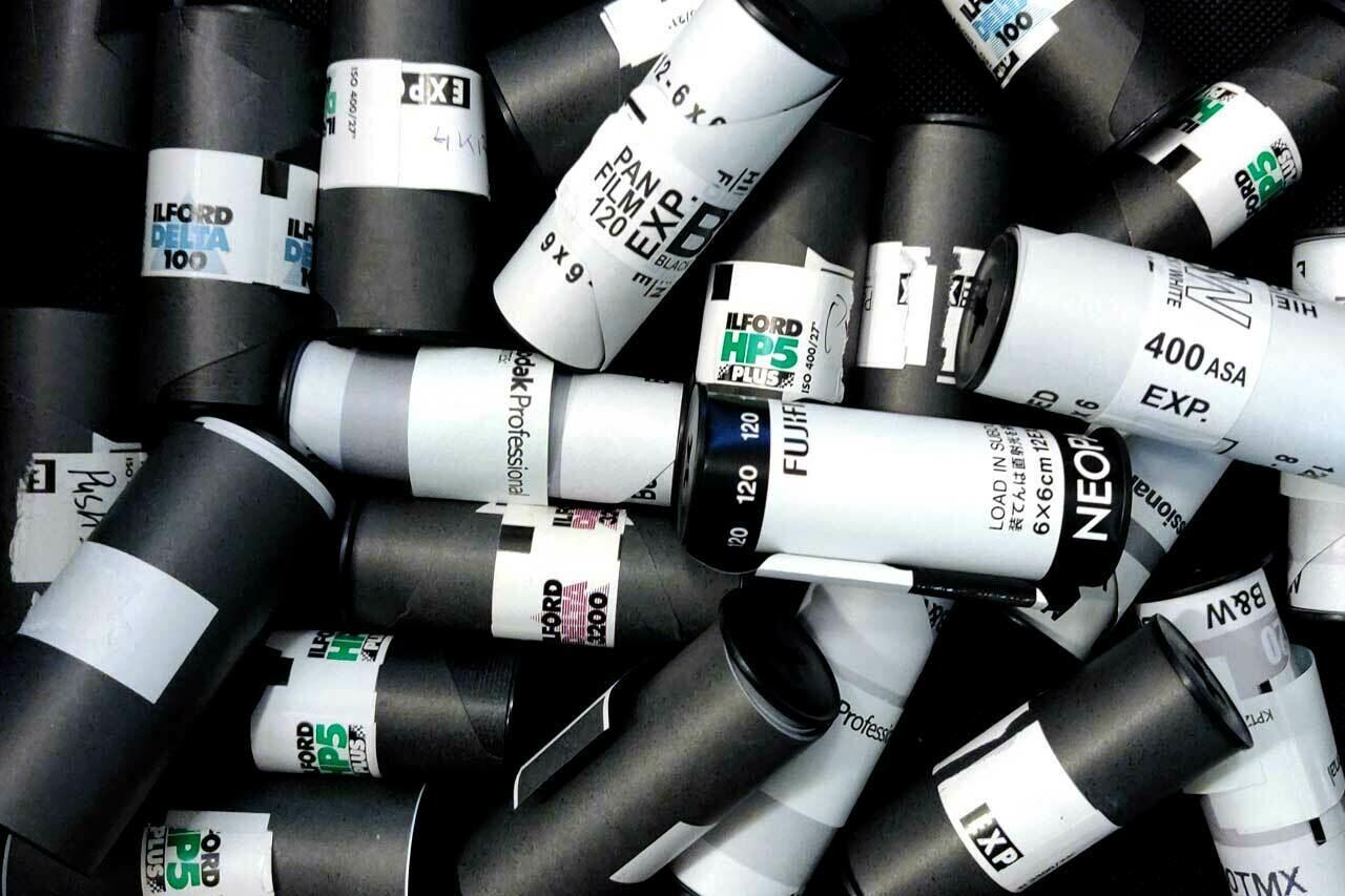 Проявка черно-белой плёнки 120 D-76