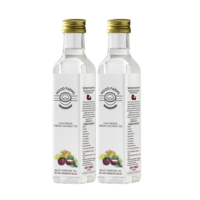 Cold Pressed Virgin Coconut Oil - 250 Ml - 2 Bottle