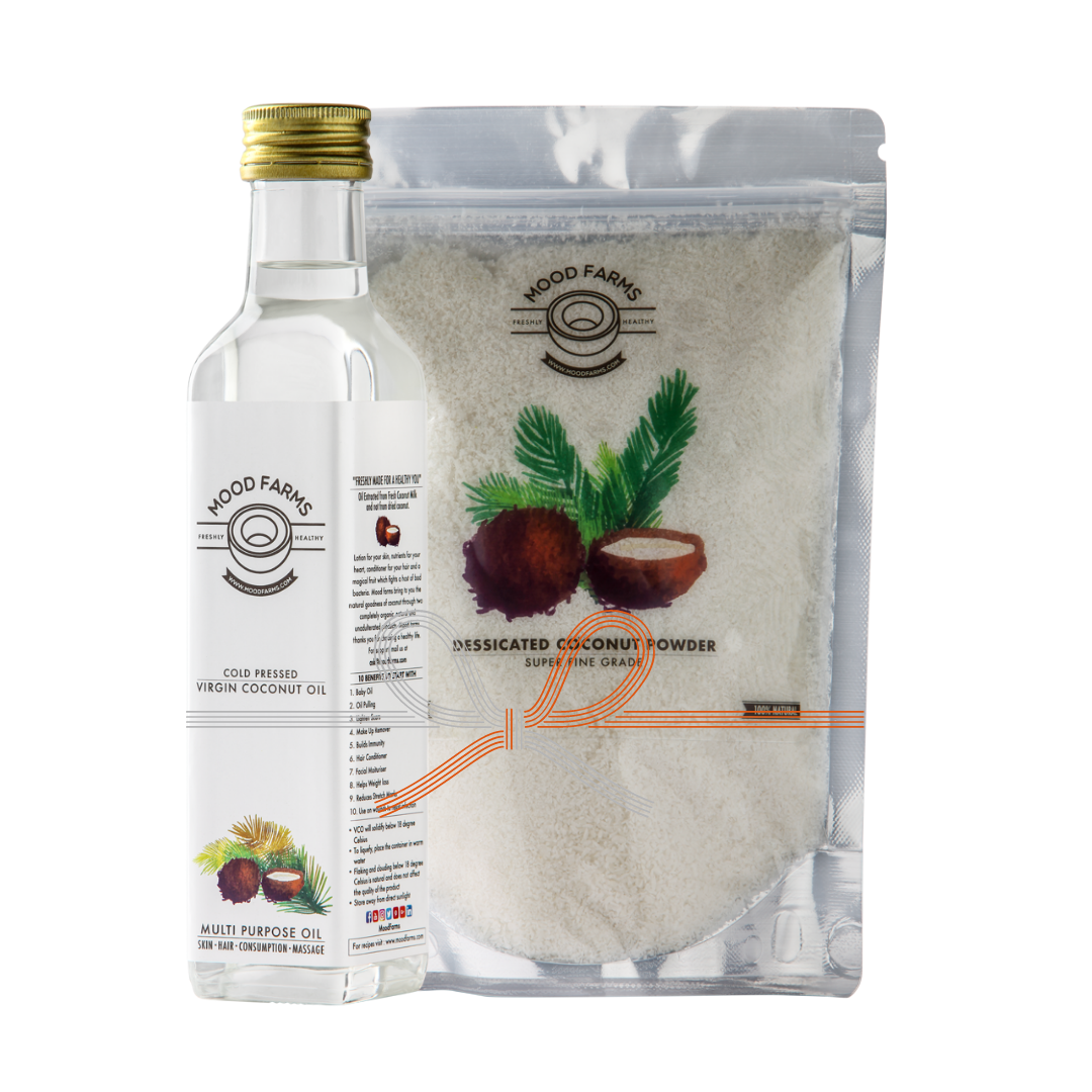 Cold Pressed Virgin Coconut Oil & Desiccated Coconut