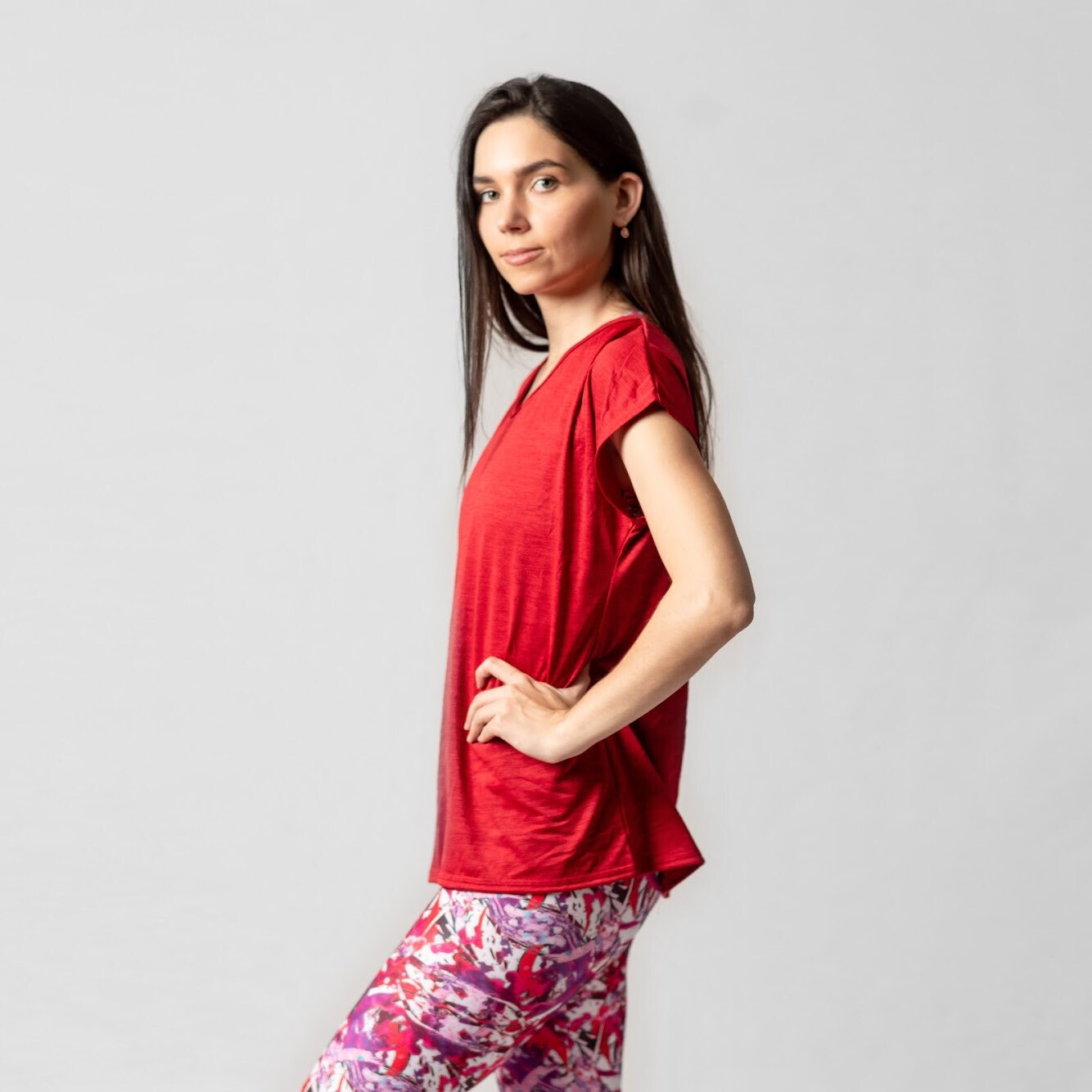 Blusa Roja Relaxed Fit