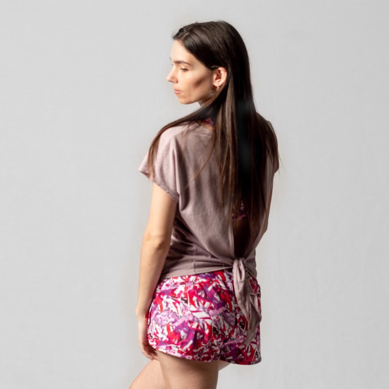 Shorts Acuarela Roja