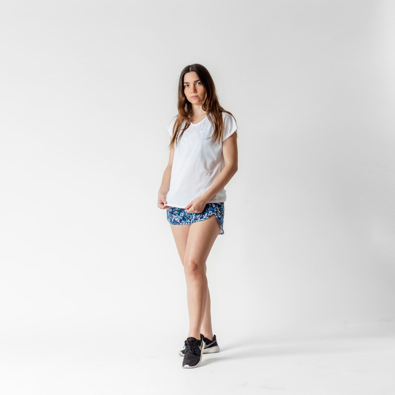 Blusa Blanca Jaspeada Relaxed Fit