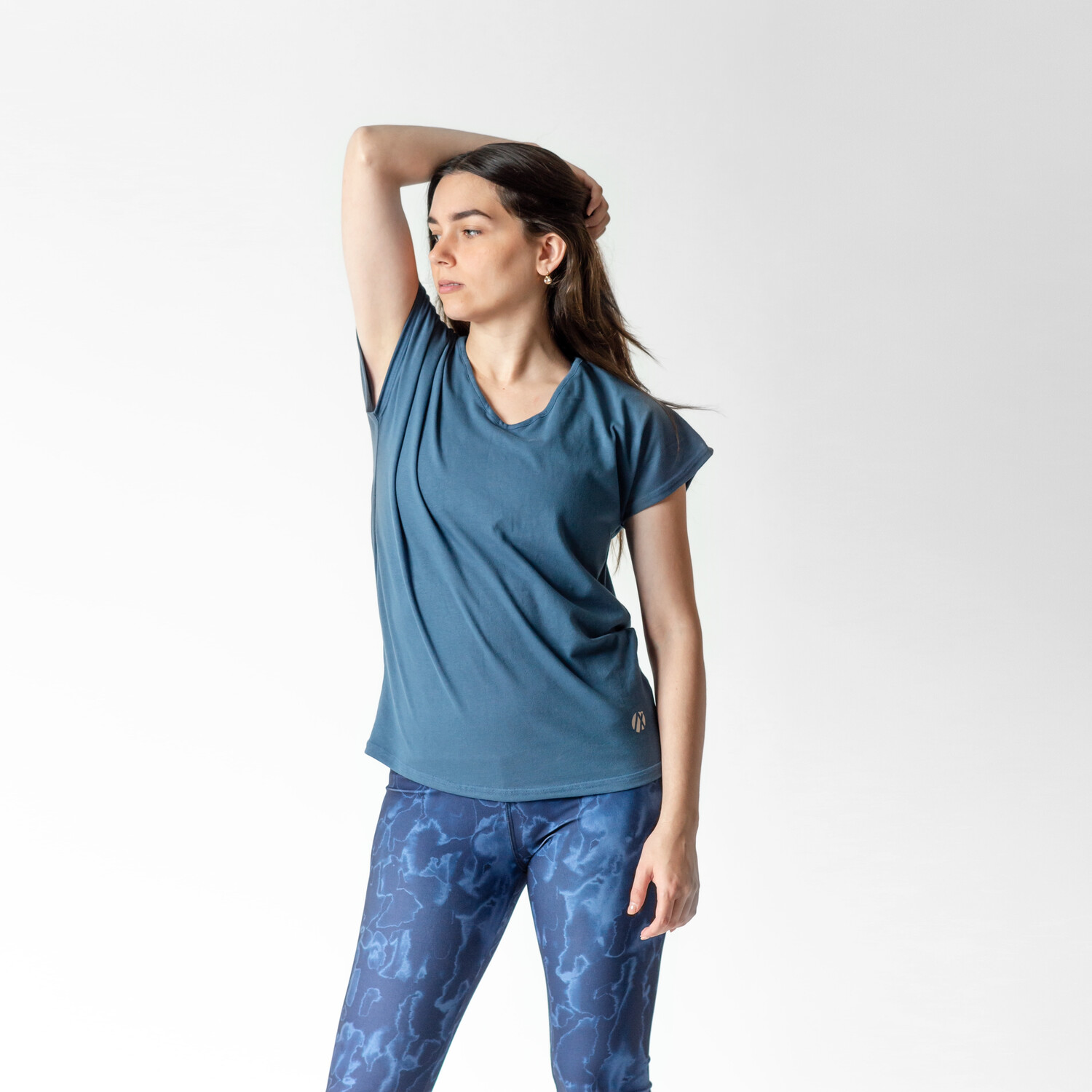 Blusa Azul Relaxed Fit