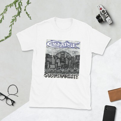 Collapse - Sustainability - White One Sided T-Shirt
