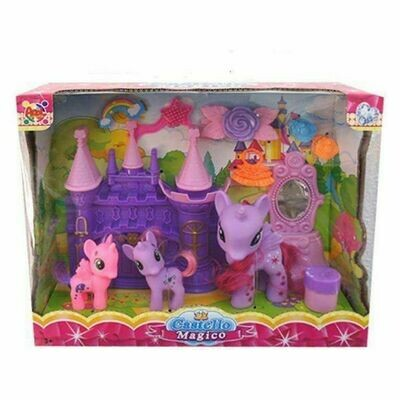 Playset Pony (3 pcs) (29 x 24 x 9,5 cm)