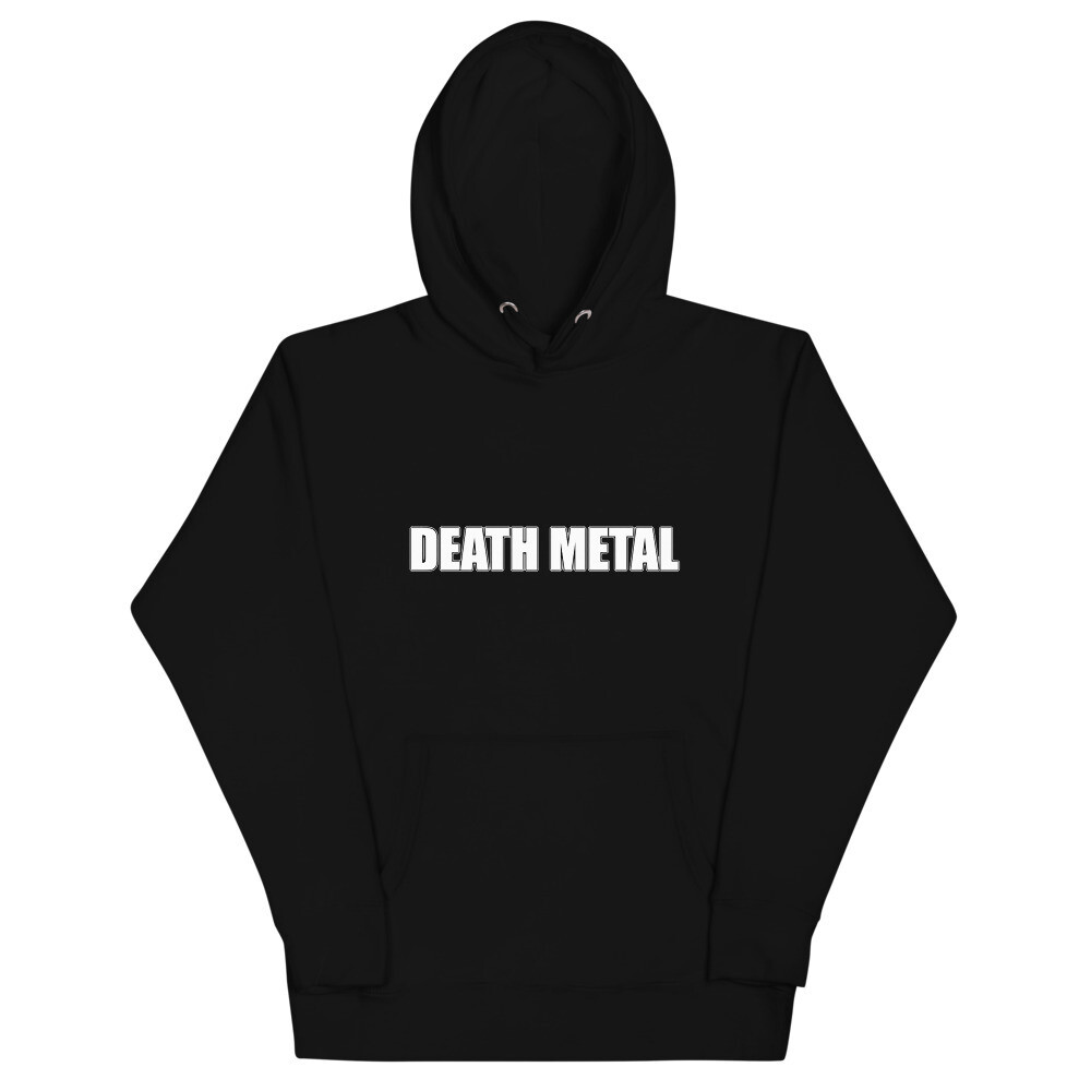 Death Metal Logo Hooded Sweatshirt - One Sided