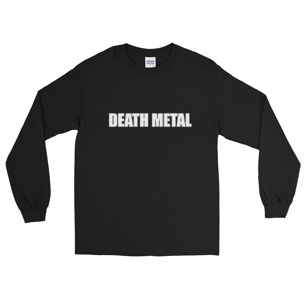 Death Metal Logo Long Sleeve Shirt - One Sided