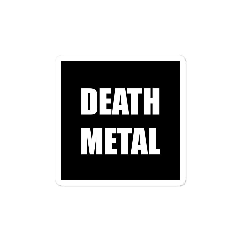 Death Metal Sticker
