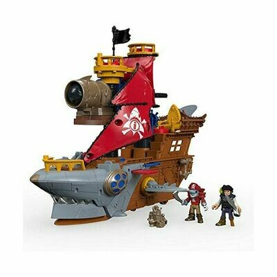 Playset Shark Bite Pirate Ship Mattel