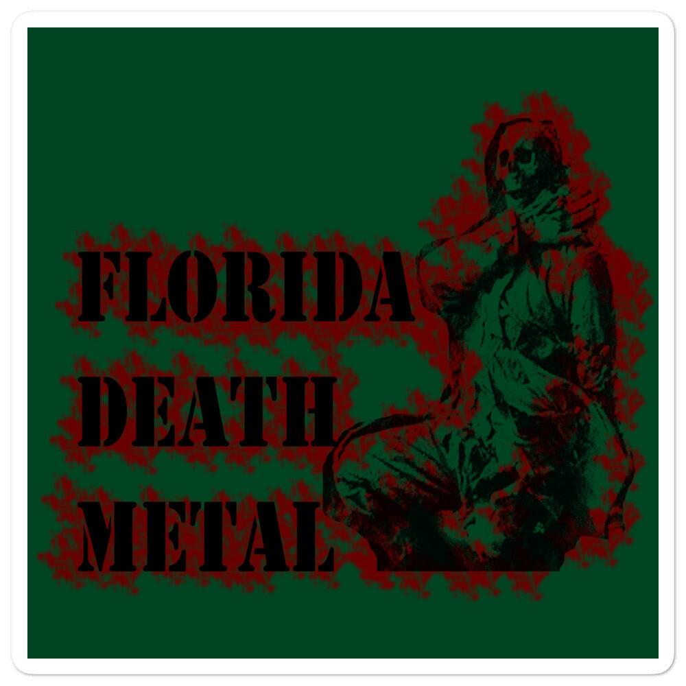 Florida Death Metal Sticker - Green