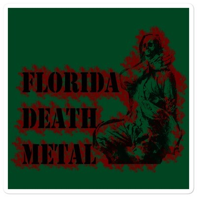 Florida Death Metal Sticker - Green