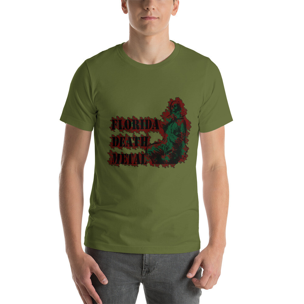 Florida Death Metal - Green T-Shirt One Sided