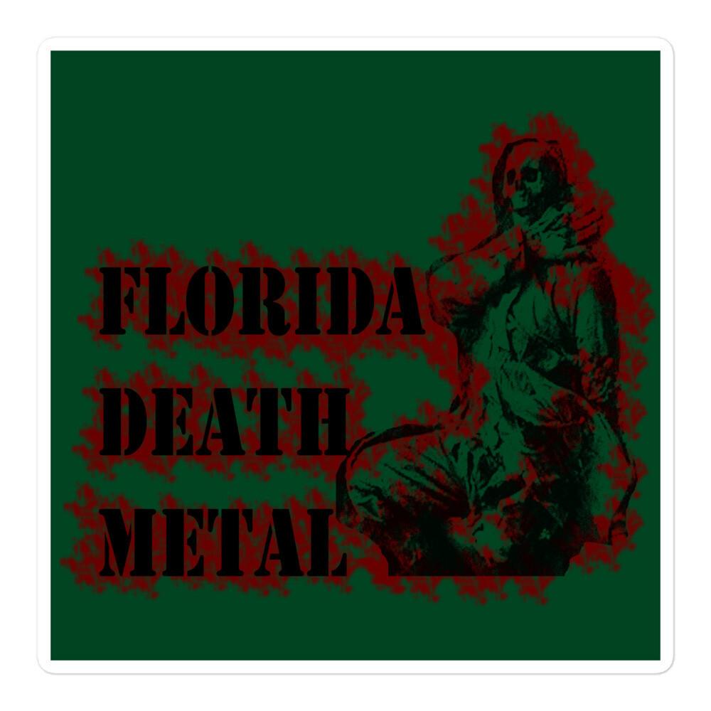 Florida Death Metal Sticker - Green ***Canada Day Sale***