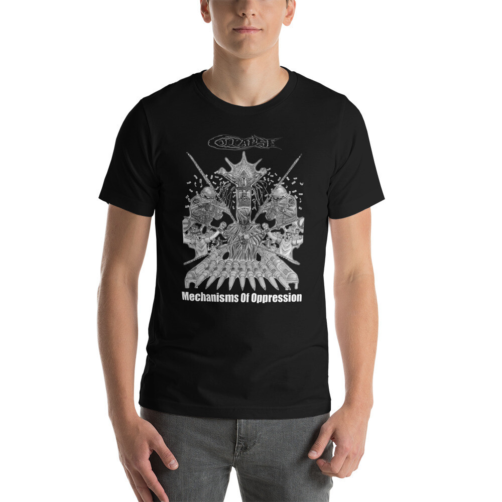Collapse-Mechanisms Of Oppression-One Sided T-shirt - Multi Color ***Canada Day Sale***