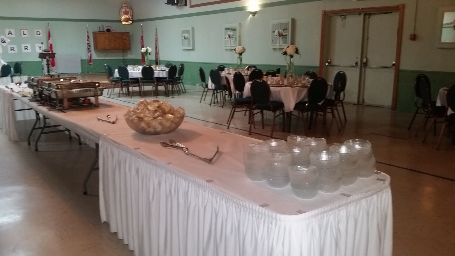 In house catering - Buffet - Additional hall rental fees apply