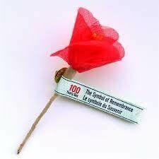 Commemorative Poppy Flower 100th Anniversary