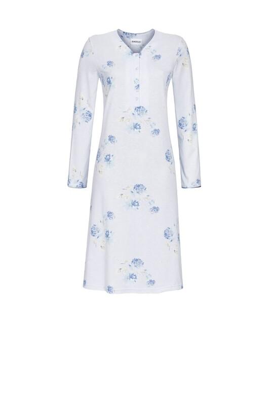 Nachthemd doorknoop RIN 0511021w20 Bleu Ringella