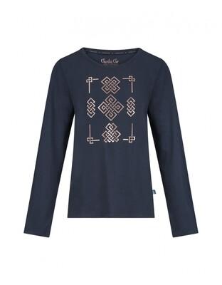 Women T-shirt D37111-38 Navy Charlie Choe