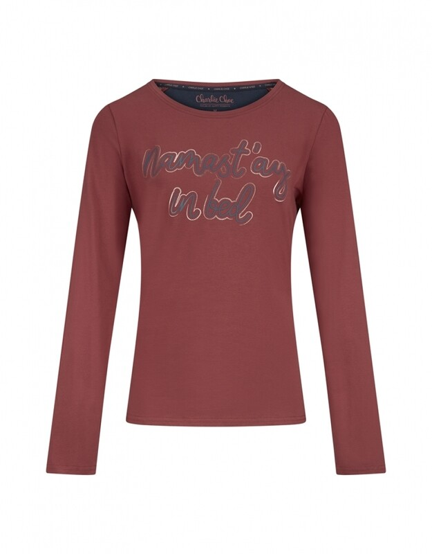 Women T-shirt D37108-38 Faded Red Charlie Choe
