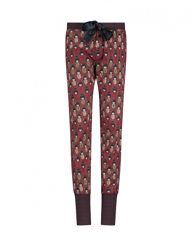 Women lounge pants D37112-38 Faded Red Charlie Choe