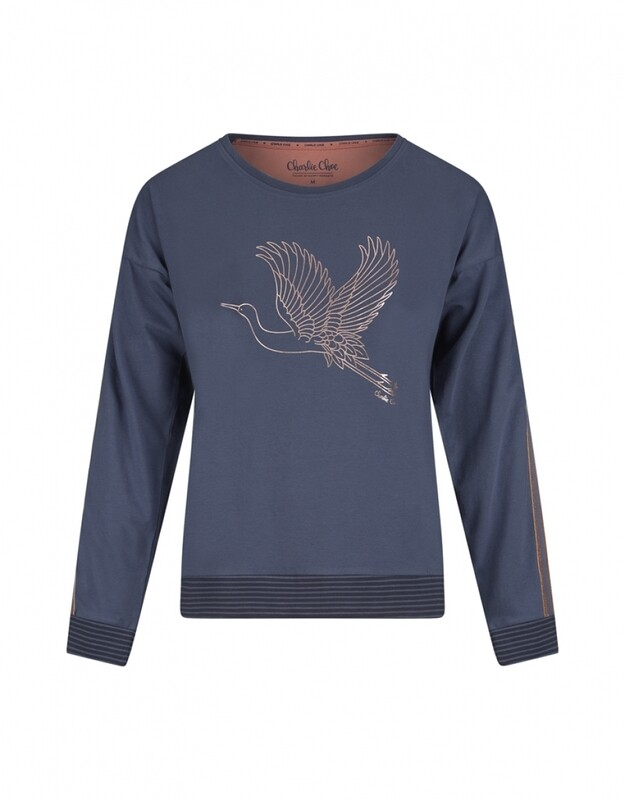Women pullover D37120-38 Mid Blue Charlie Choe