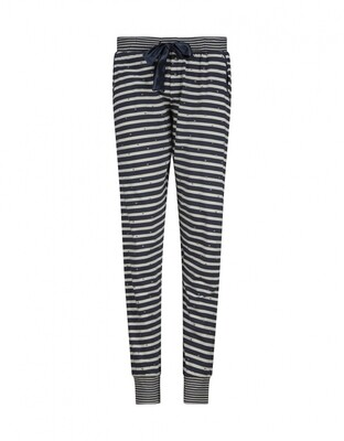 Women lounge pants D37157-38 Navy + Off White Charlie Choe