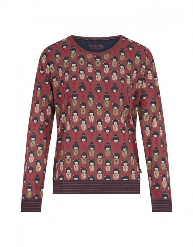 Women pullover D37113-38 Faded Red Charlie Choe