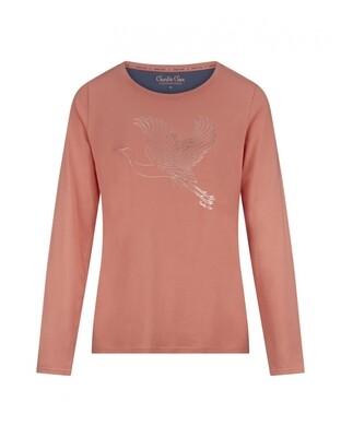 Women T-shirt D37116-38 Pink Charlie Choe