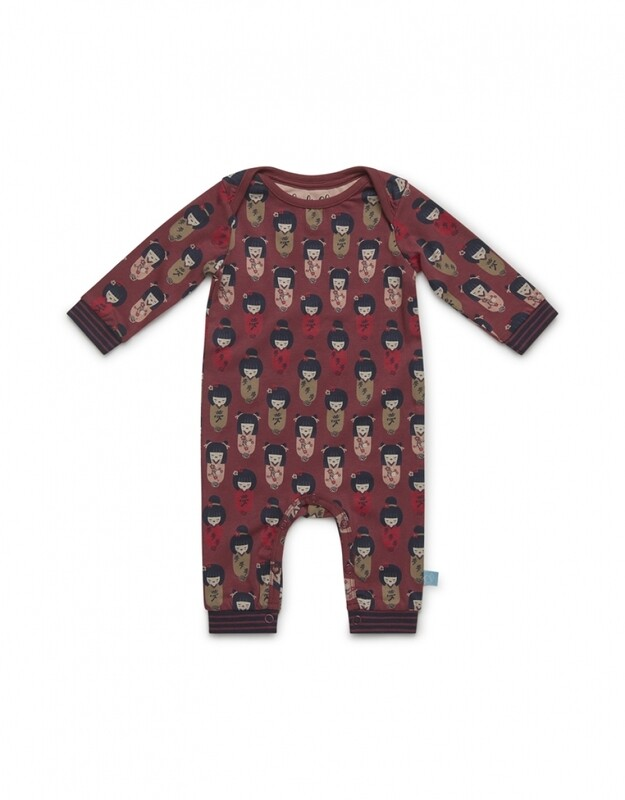 Baby jumpsuit long sleeve D37008-41 Faded Red Charlie Choe