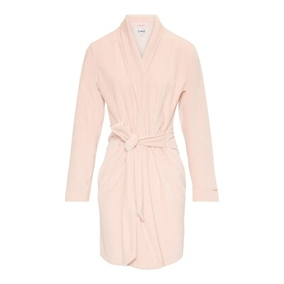 Badjas 130606 Rose Powder Cyell Velvet Robes