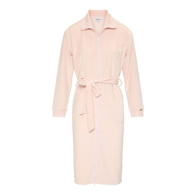 Badjas 130607 Rose Powder Cyell Velvet Robes