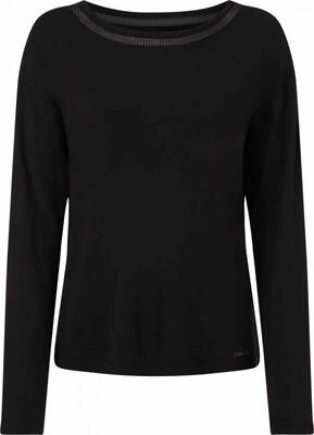 Top wide neck QS6540E Black Calvin Klein