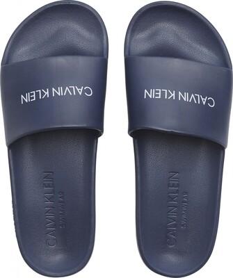 Heren slippers KM0KM00498 Black Iris Calvin Klein