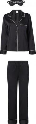 Satijnen pyjama set QS6551E Black Calvin Klein