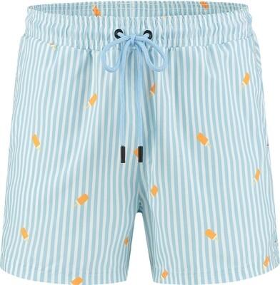 Zwemshort Matthijs Blauw Gestreept A-Dam Underwear