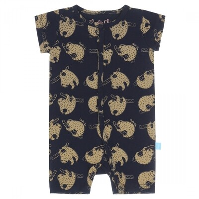 Baby jumpsuit E39040-41 navy + light sand Charlie Choe