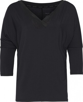 Shirt 3/4 sleeve QS5780Eb02 Zwart Calvin Klein
