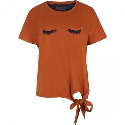 Women t-shirt E39140-38 Cognac Charlie Choe