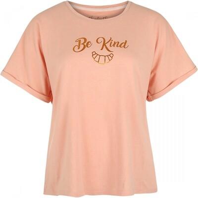 Women t-shirt E39124-38 Old pink melange Charlie Choe