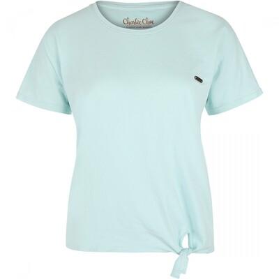 Women t-shirt E39105-38 Aqua Blue Charlie Choe