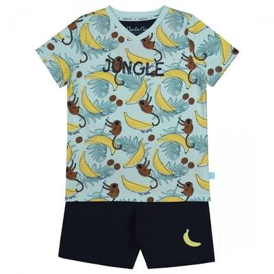 Boys shorts set E39054-42 Aqua Blue + Navy Charlie Choe