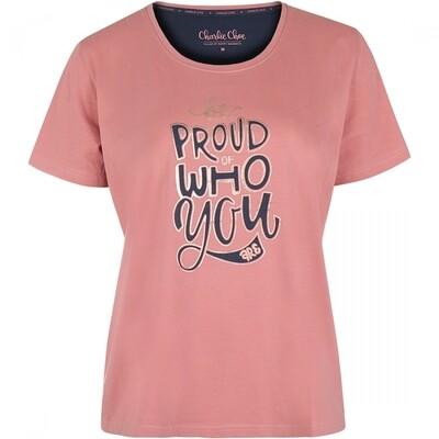 T-shirt E39134-38 Dusty Pink Charlie Choe Mystic Paradise