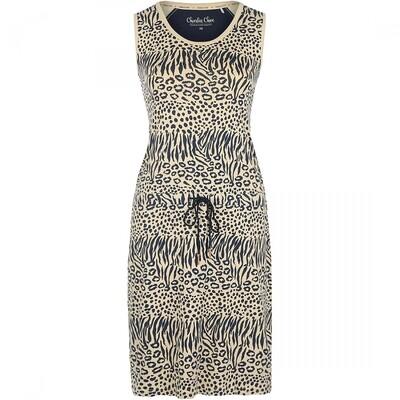 Relax dress E39145-38 Navy + Light Sand Charlie Choe Safari Chique